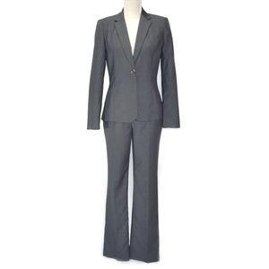CALVIN KLEIN Gray Pinstripe Two-piece Pant Suit